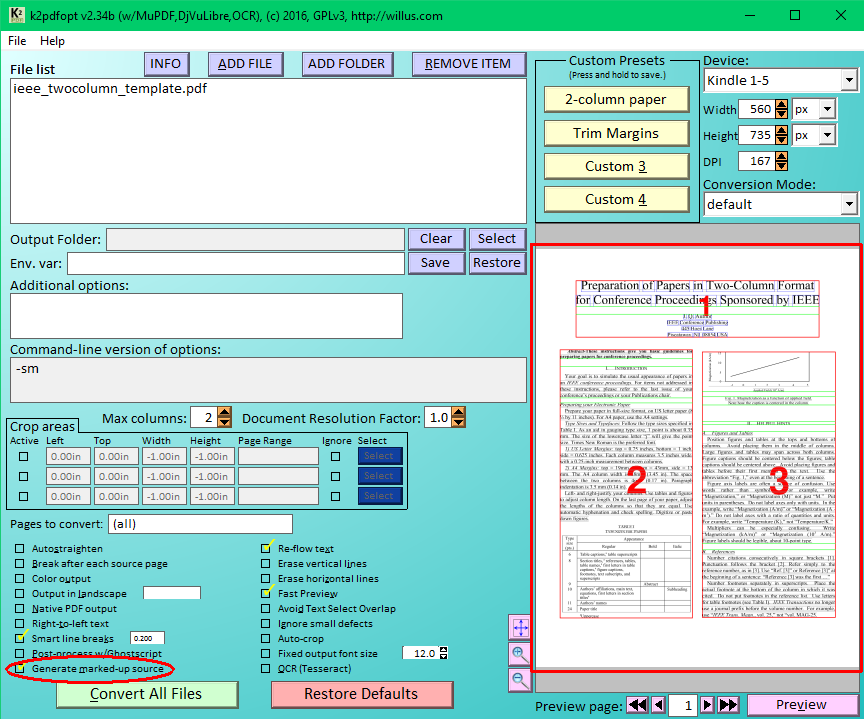 Willus com's K2pdfopt Help Page